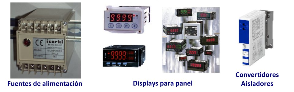 Displays y aisladores